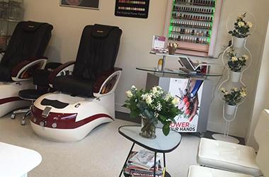 Spa pedicure stoelen bij Nagelstudio Ha in Baarn